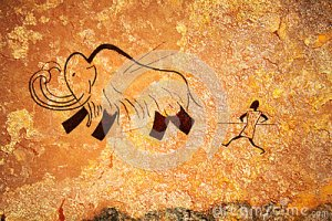 cave-painting-of-primitive-hunt-thumb25057391