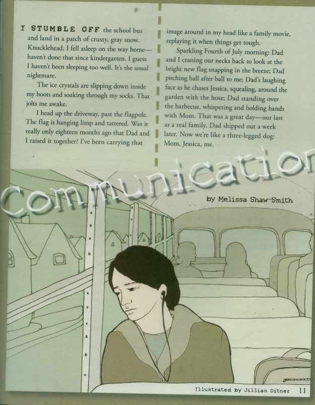 """Communication,"" Cricket, Feb. 2009, Illustrations by Jillian Ditner"