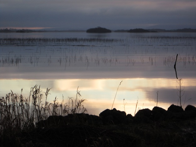 Early January evening on Lough Carra, Co Mayo